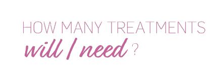 How many treatments will I need?